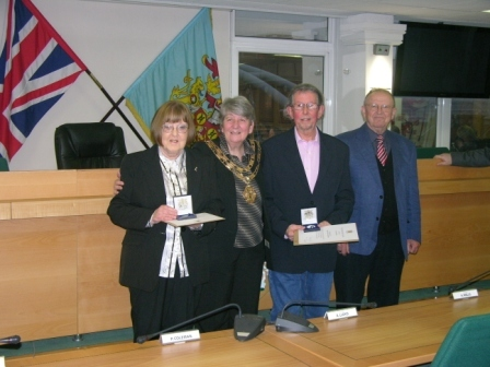 Pam &amp Alan with Ann Allen, Mayor of Dartford and John Prestage